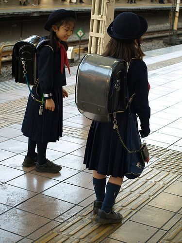 The Japanese school uniform - love the backpack!!! | Japan | Pinterest