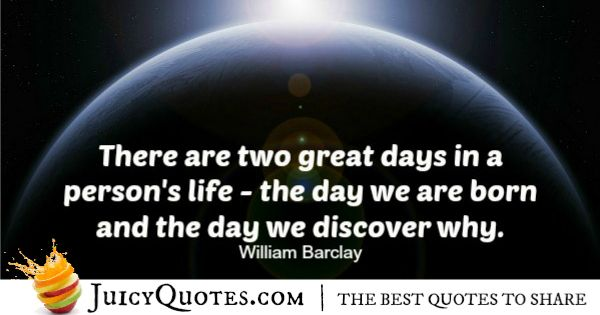 Quote About Life - William Barclay