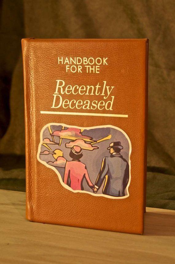 Handbook For The Recently Deceased Book Replica Ereader Kindle Ipad Tablet Custom Device Cover Fallen Book Gravity Falls Book Beetlejuice