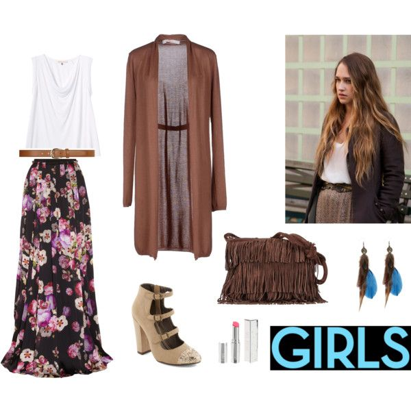 HBO'S Girls inspiration: Jessa by vanessafilion on Polyvore featuring jucca, Rebecca Taylor, Giambattista Valli, Sequoia, Dorothy Perkins, Topshop, Girls, inspiration and hbo