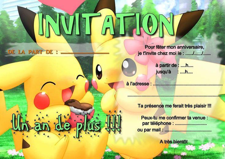 Invitation Anniversaire Pokemon X Et Y | Carte invitation anniversaire, Invitation anniversaire ...