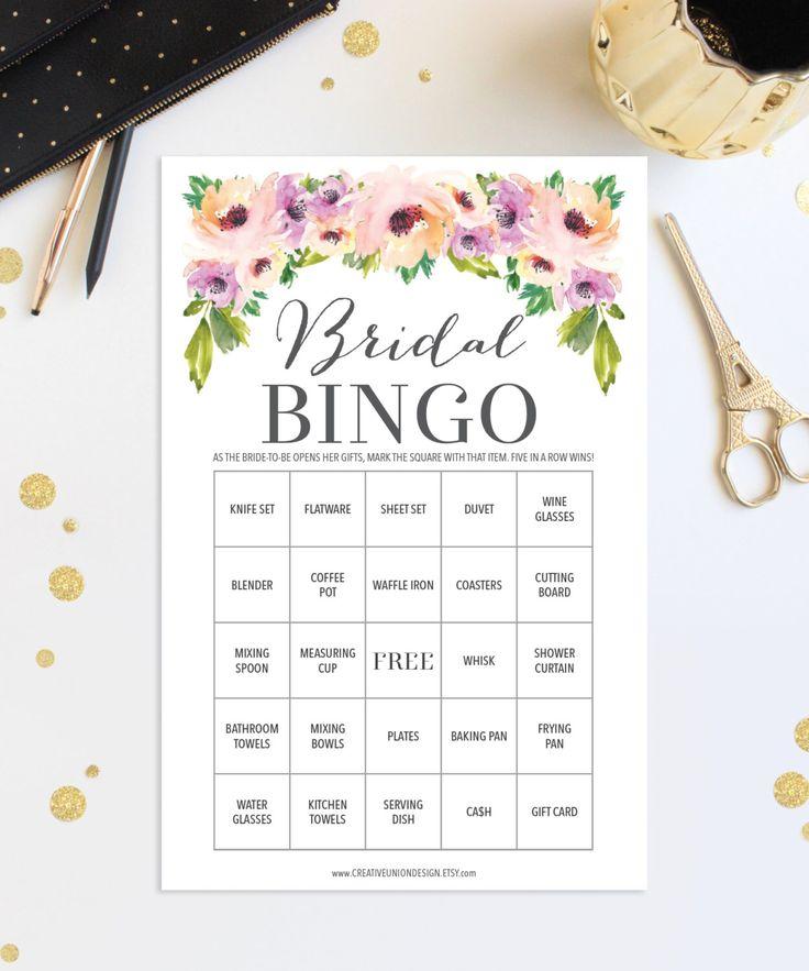Bridal Shower Games https://www.etsy.com/listing/461137432/76-bridal-shower-bingo-games-wedding