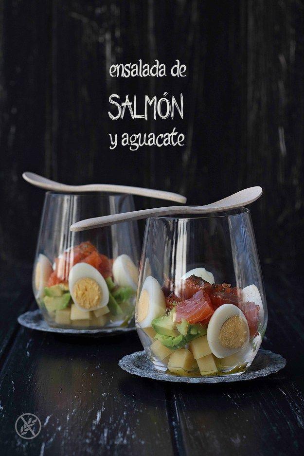 Ensalada de salmón y aguacate {by Paula, Con las Zarpas en la Masa}