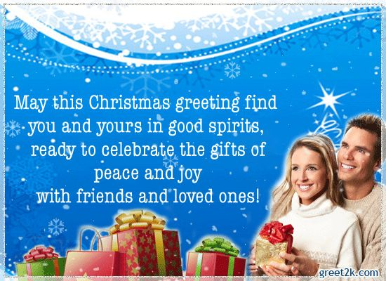 Celebrate the gifts of peace and joy with your friends and family.