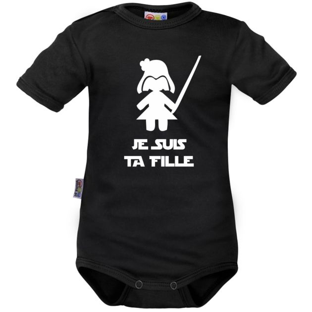 Body bébé noir : Je suis ta FILLE - Drôles - Family In Black