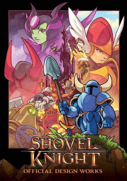 Shovel Knight: Official Design Works - cover art   Shovel Knight is a sweeping classic action adventure game with awesome gameplay memorable characters and an 8-bit retro aesthetic created by Yacht Club Games.  Shovel Knight: Official Design Works collects the fun and original artwork behind this landmark title. Inside youll find key art character concepts enemy designs sprite sheets unused ideas and an all-new Shovel Knight tribute art gallery! This epic tome is also packed with creator…
