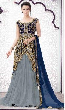 Net Designer Wear Lehenga Suits in Slate Grey Color | FH530980204 #indian , #salwar , #kameez , #dresses , #suits , #women , #ledies , #designer , #clothing , #boutique , #online , #shopping , #anarkali , #churidar , #palazo , @heenastyle , #dupatta , #fashion , #mode , #henna , #mehendi, #lehengasuit, #fashion, #net