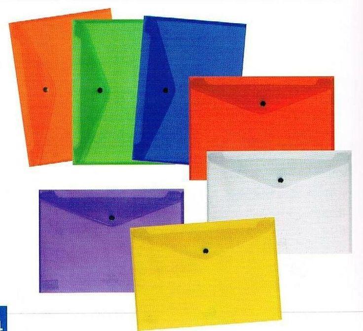 Busta con chiusura a bottone A7 Colori Assortiti  #archivio #mazzarella#ciac