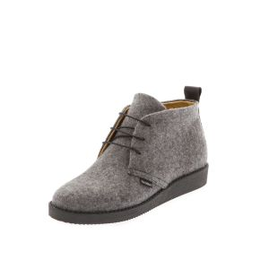 Women's Flat Shoes Grey-- Wool felt shoes