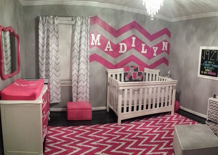 Hot Pink Chevron Nursery - very glam!
