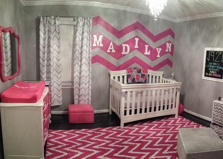 Hot Pink Chevron Nursery - very glam!
