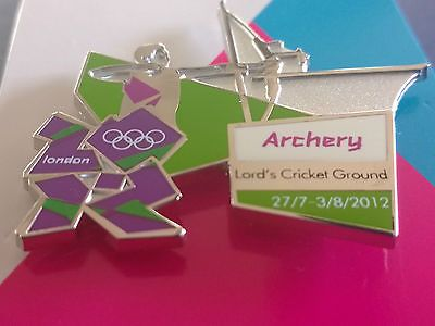 London 2012 olympics archery #lords #cricket #ground venue sports pose  pin badge,  View more on the LINK: http://www.zeppy.io/product/gb/2/311529777279/