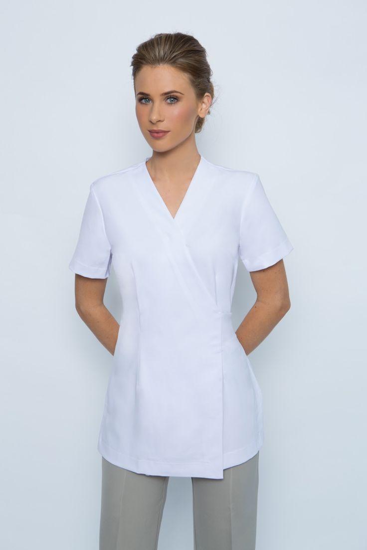 63 best salon staff uniform ideas images on pinterest for Spa uniform grey