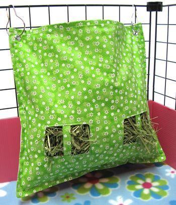 Fabric hay feeder