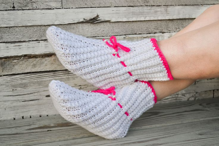 """Woolen socks hand knitted """"Marshmallows"""" by warmheels on Etsy"""