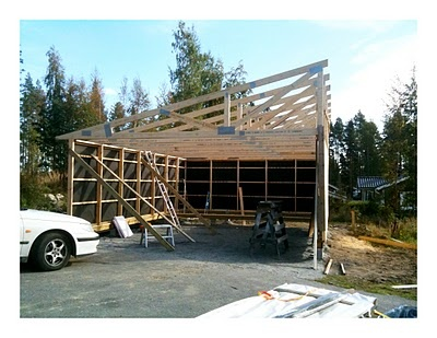 Storage room and storage on pinterest for Carport with storage room
