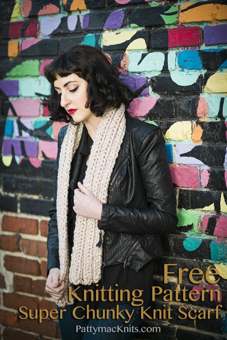 Make this Easy Free Scarf Knitting Pattern for a Versatile Stylish