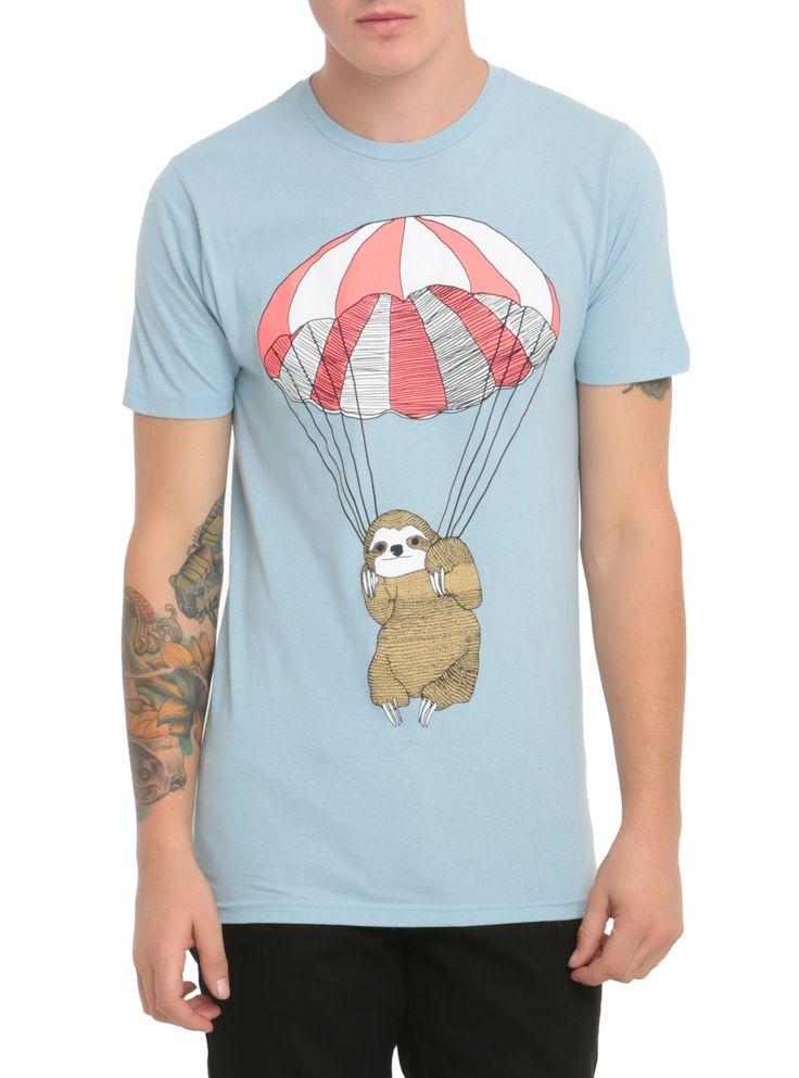 Parachuting Sloth T-Shirt | Hot Topic