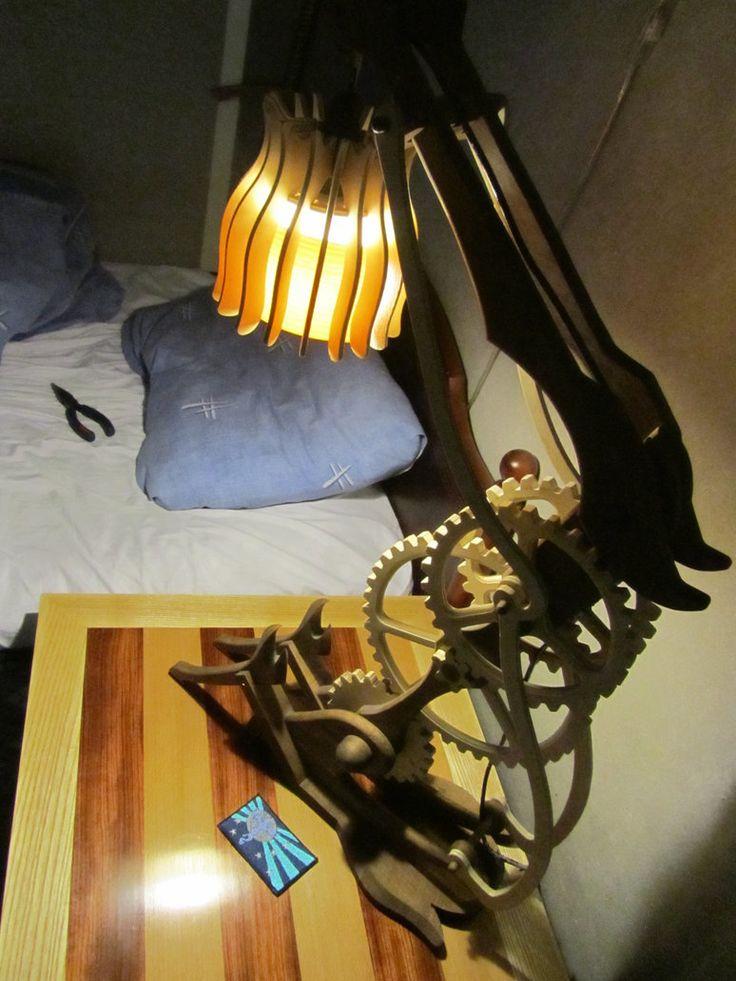 Wooden desk lamp (Functional Prototype) by MachoPony