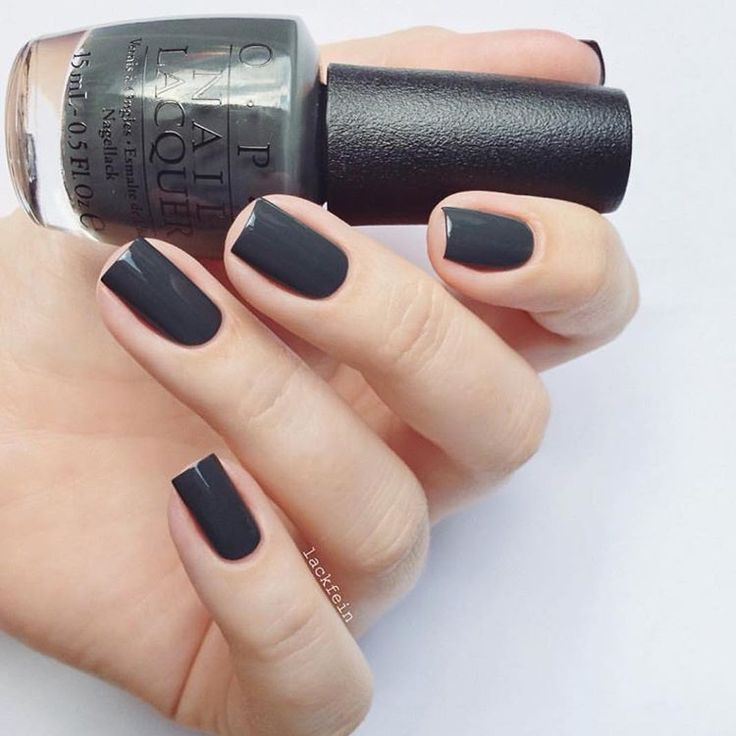OPI LIV IN THE GRAY - dark grey #nail polish / lacquer