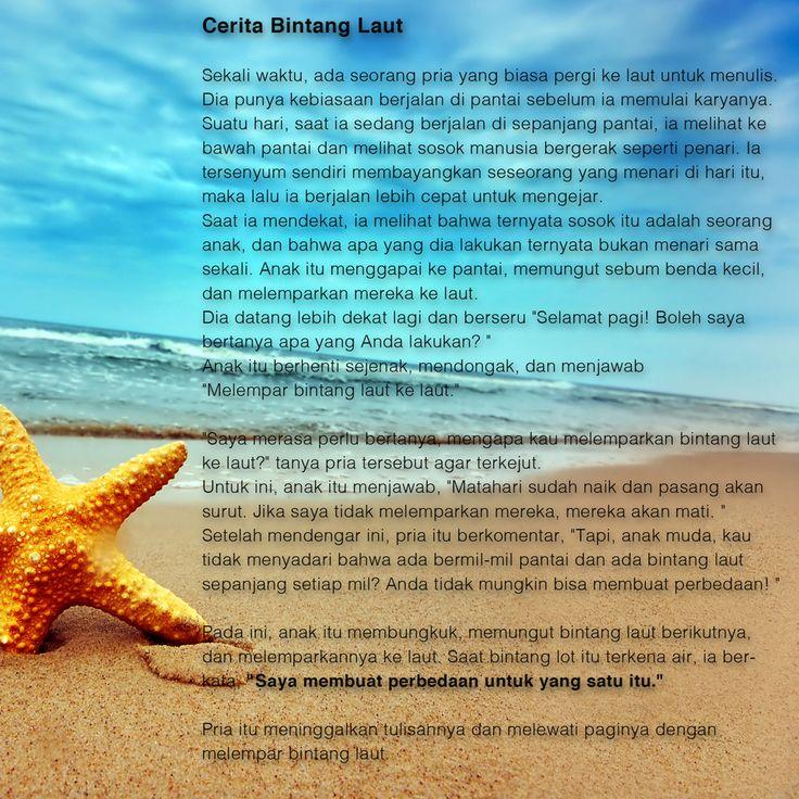 #BabyIncPick | Cerita Bintang Laut #InspirasiHariIni  http://www.thebabyinc.com/#!InspirationOfTheDay-The-Starfish-Story/cmbz/5675f8090cf28854b38cf422