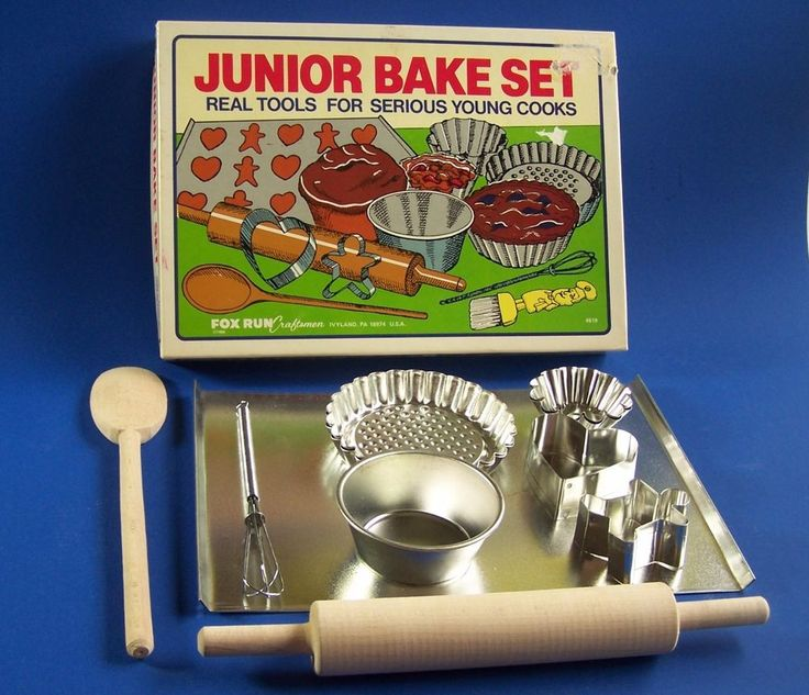 Bakeware for Kids Junior Bake Set Fox Run Craftsmen Vintage #4619 Cookie  Tart  #FoxRun #CookieCutters #Baking