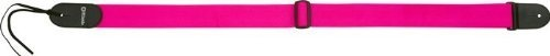 """DiMarzio 2"""" Nylon Neon Standard Guitar Strap Pink by DiMarzio. $16.99. The DiMarzio Nylon Neon Standard Guitar Strap is made of high quality nylon webbing identical to car seatbelts. The strap ends are stitched leather and button on to an electric guitar. Includes a leather tie-cord for use on an acoustic guitar. The 2"""" wide strap length adjusts from 32""""-56-1/2"""" (81-144 cm)."""