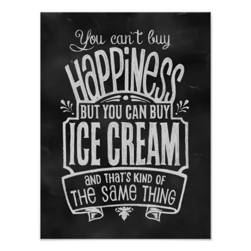 Ice Cream Lover's Poster - This is a Great Gift Idea!