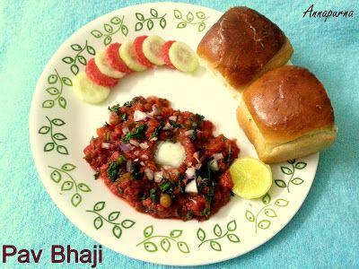 Annapurna: Mumbai Pav Bhaji Recipe / Indian Street food Recipes