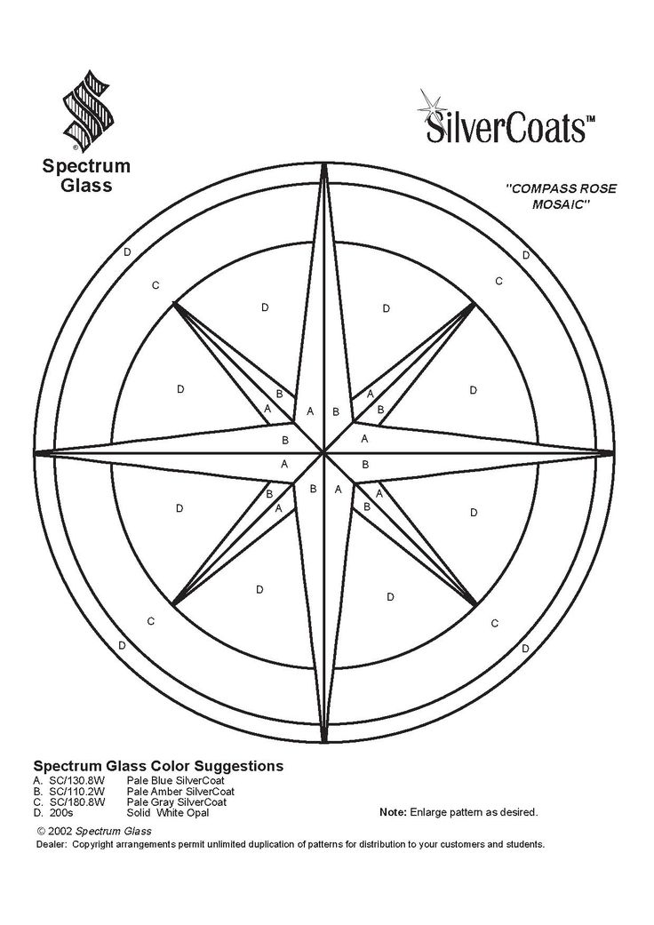 Glass Compass Rose Patterns : Stained glass spectrum pattern patrons vitraux