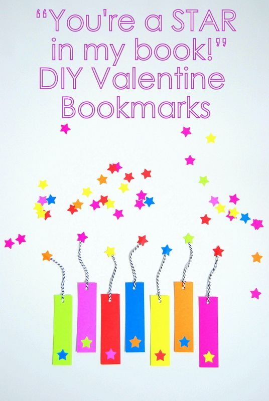 Candy-free Valentines. DIY Bookmarks - northstory.ca