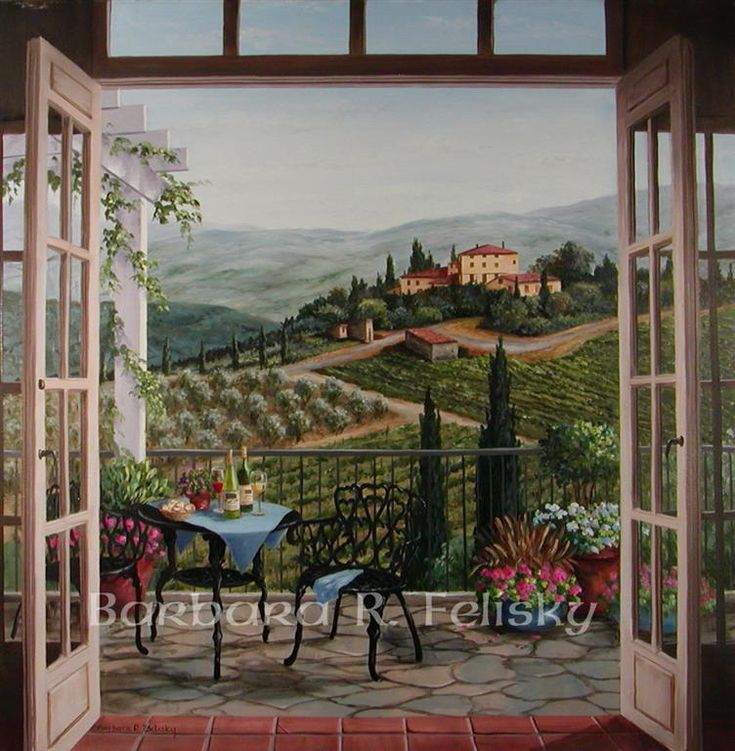 Barbara Felisky Balcony View Of The Villa