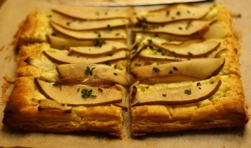warm pear and blue cheese tart recipes dishmaps cheese tart increasing ...