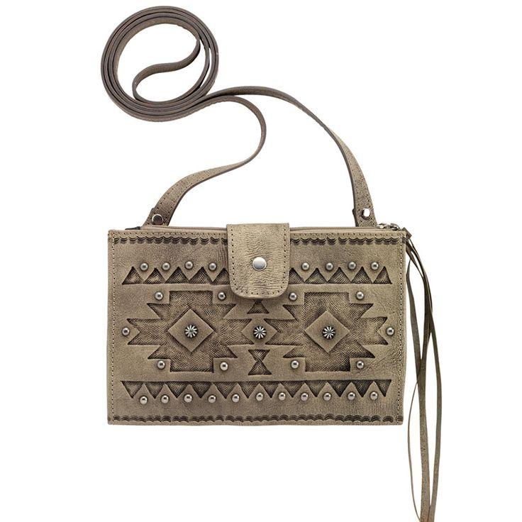 Shyanne® Women's Sand Foldover Crossbody Bag