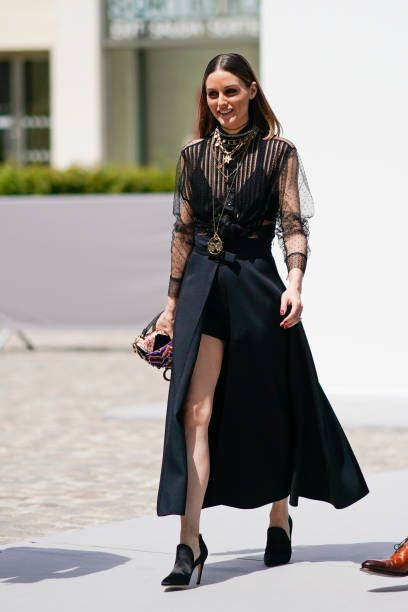 Olivia Palermo attends the Dior show during Paris Fashion ...