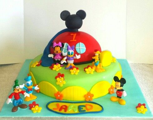 Mickey mouse clubhouse cake.