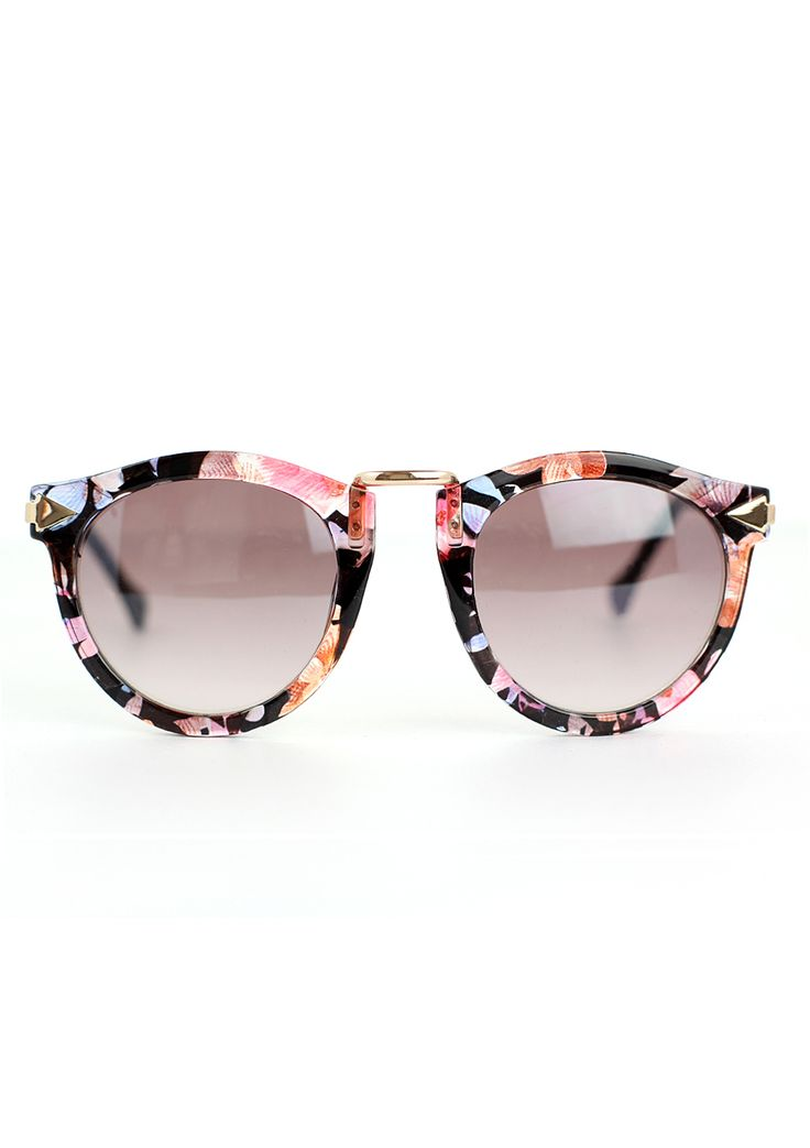 Chicwish Multi-Color Sunglasses with Metal Detail - Accessory - Retro, Indie…