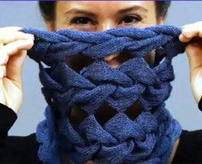 Вязаные шарфы снуды » Схемы с описанием 2016-зима 2017