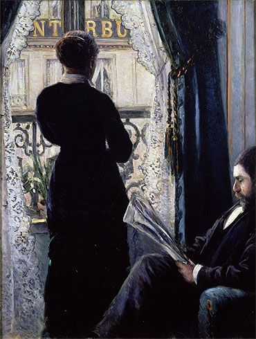 Title: Interior, Woman at the Window, 1880  Artist: Gustave Caillebotte  Medium: Canvas Art Print - Giclee