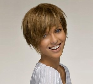 short hair style for thick hair