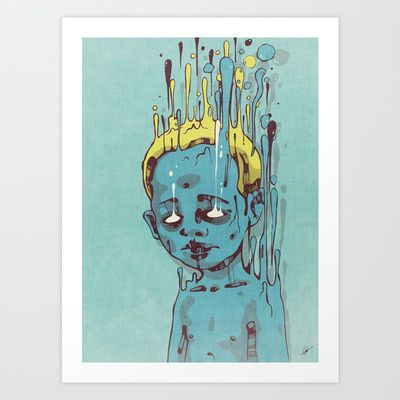 The Blue Boy with Golden Hair Art Print by Dr. Lukas Brezak - $16.00