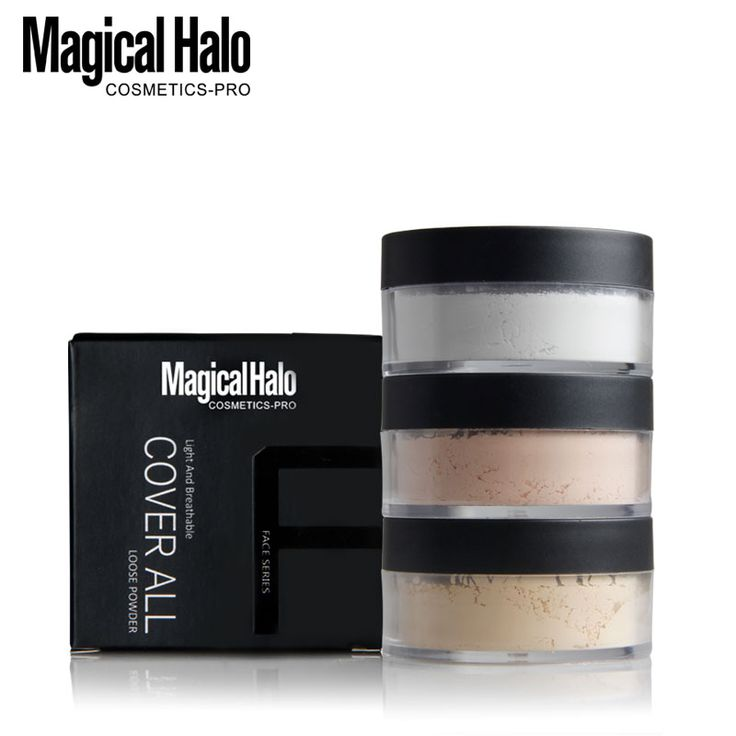 Brand New 3Colors Smooth Loose Powder Makeup Transparent Finishing Powder Waterproof Cosmetic For Face Finish Setting With Puff