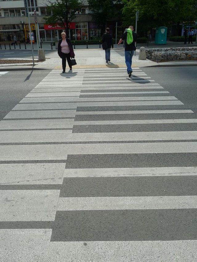 Piano Keys Cross Walk Street Art.  Classical Music.