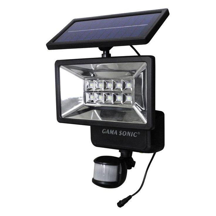 Gama Sonic Outdoor Solar Security Light   Motion Sensor   10PIR01