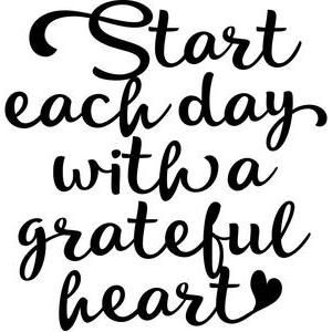 Silhouette Design Store: start each day with a grateful heart
