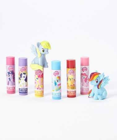 Another great find on #zulily! My Little Pony Lip Balm & Topper Set by My Little Pony #zulilyfinds