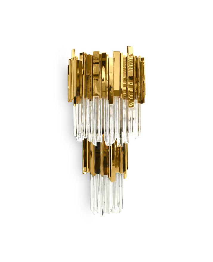 Empire Wall   Hotel Lobby   LUXXU Modern Lamps  Find more inspirations: www.luxxu.net   #luxurylighting #lightingdesign #walllamps