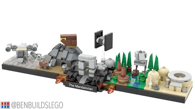 Lego Star Wars The Mandalorian Skyline Moc 3 In 2020 Lego Star Wars Mini Lego Star Wars Lego Mandalorian