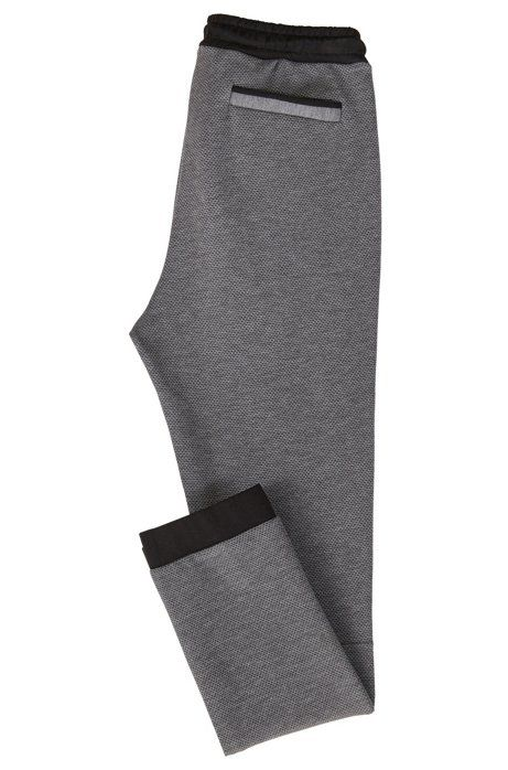 433abf547 Cuffed jogging bottoms in micro-patterned double-faced jersey, Grey ...