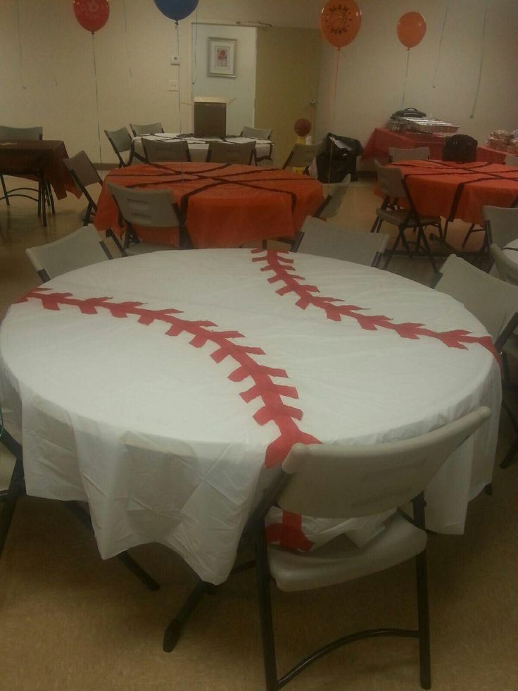 Baseball table cloth  Party  Softball party Sports